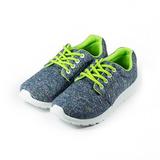 (女) C&K 輕量金蔥休閒鞋 藍 鞋全家福