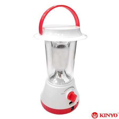 【KINYO】360度LED充電式露營燈(CP-01)