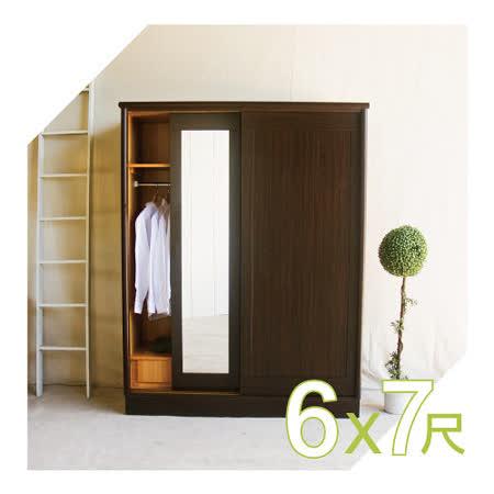 【YUDA】美化6*7尺 六分木心板 三拉門/三推門 衣櫥/衣櫃 品質保證 新竹以北免運費