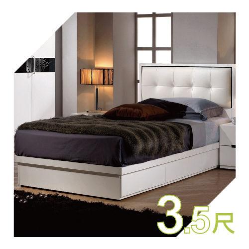 ~YUDA~ 波爾卡 3.5尺 單面抽屜 抽屜式床底 單人床架床底床檯 J6M 129~2