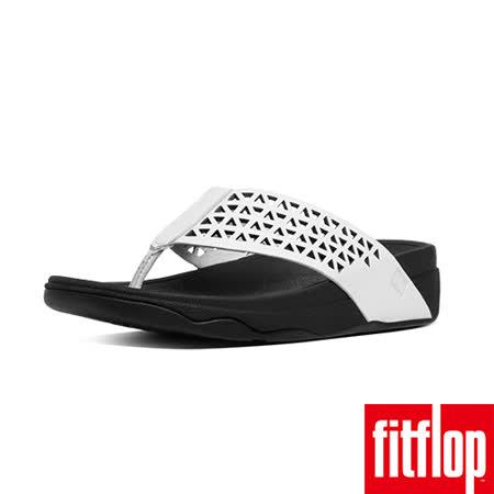 FitFlop™-(女款)LEATHER LATTICE SURFA™-都會白