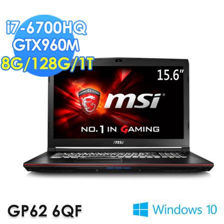 msi微星 GP62 6QF-847TW 15.6吋 i7-6700HQ GTX960M 電競筆電
