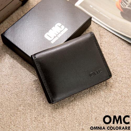 OMC ~ 韓系柔軟牛皮款真皮2卡1照名片夾