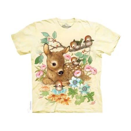 『摩達客』(預購)美國進口【The Mountain】自然純棉系列 小鹿斑比 設計T恤 (兒童尺寸)