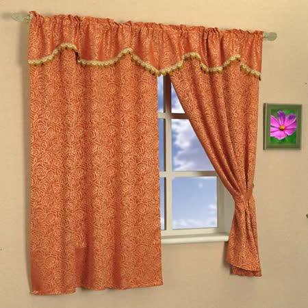 芸佳 黃金玫瑰穿掛窗簾200x165