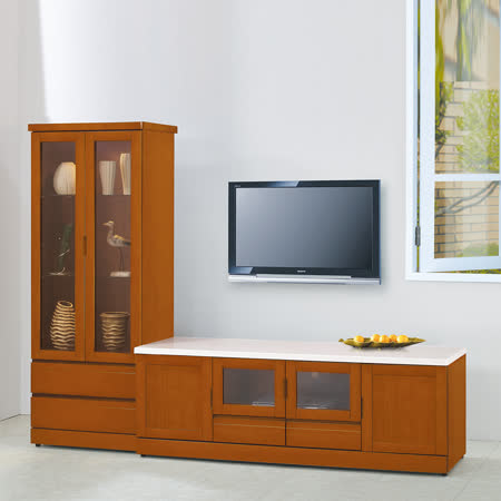 HAPPYHOME 泰豐樟木8尺L型電視櫃UZ6-210-1
