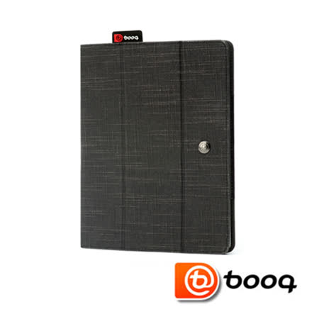 Booq Folio iPad 2 / New iPad  天然麻立架保護套-沉穩黑