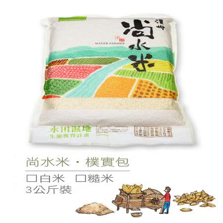 台灣米 溪州尚水米糙米5包+白米5包(3kg/包)