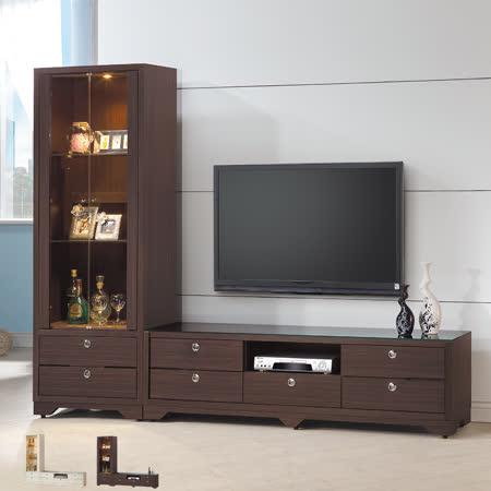 HAPPYHOME 志耀7.6尺L型電視櫃UZ6-211-1+211-4