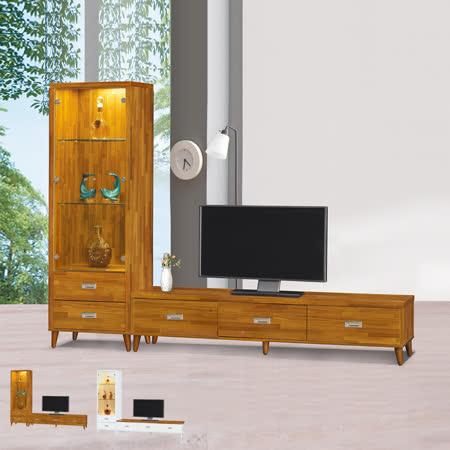 HAPPYHOME 吉星8尺L型電視櫃UZ6-211-9