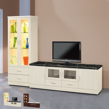 HAPPYHOME 泰豐8.5尺L型電視櫃UZ6-212-1