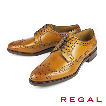 【REGAL】質感翼紋德比皮鞋 咖啡(05KR-BR)