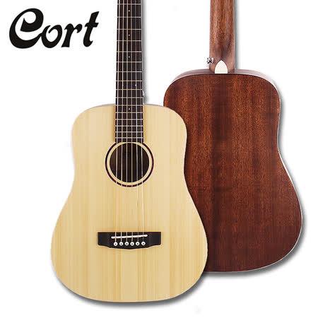 ★Cort★Earth mini 雲杉單板旅行吉他~(含琴套)