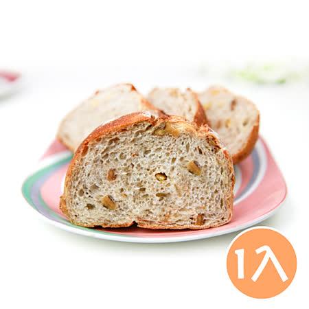 (任選)【台灣鑫鮮】手作烘焙湯種堅果麵包-招牌原味(380克/條)