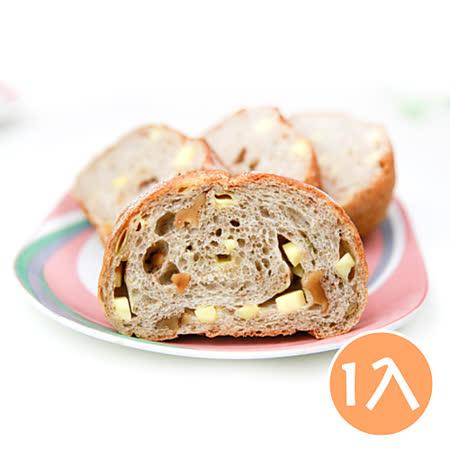 (任選)【台灣鑫鮮】手作烘焙湯種堅果麵包-濃郁起士(380克/條)
