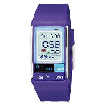 CASIO 新潮流個性亮彩電子錶- 紫(LDF-52-6A)