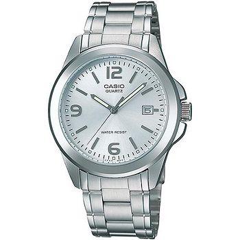 CASIO 品味城市優雅紳士錶- 白(MTP-1215A-7A)
