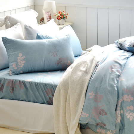 美夢元素 台灣製天鵝絨 飄絮 雙人三件式床包組