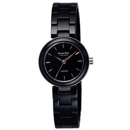 Roven Dino羅梵迪諾   夜明玉簡約設計時尚女錶-黑