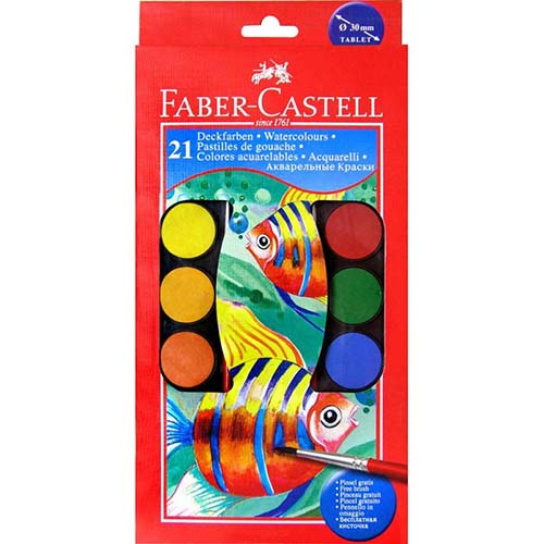 ~Faber~Castell輝柏~水彩餅 21 色