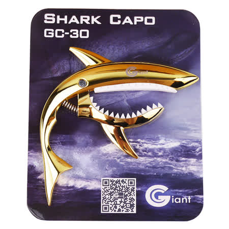 ★JYC Music★GC-30 高質感鯊魚造型夾式移調夾(金)