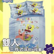 【海綿寶寶-朋友篇】雙人床包+枕套三件組