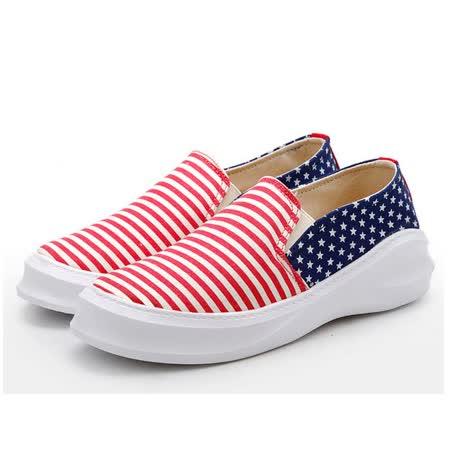 【Maya easy】幸福便利好走鞋/鞋跟3.5cm-條紋星星款