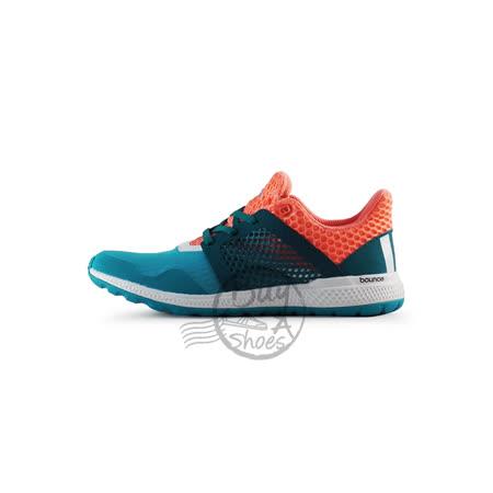 adidas 女 愛迪達 ENERGY BOUNCE 2 J 慢跑鞋 綠/橘-AQ3034
