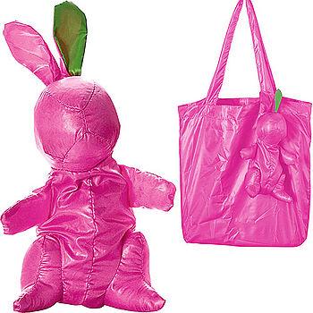 《PHILIPPI》Bunny 小兔購物袋(桃)
