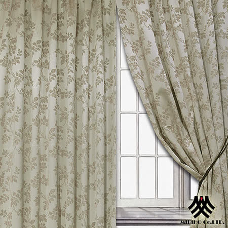 《M.B.H─秋意巧思》落地穿掛窗簾(金)(270*165cm)