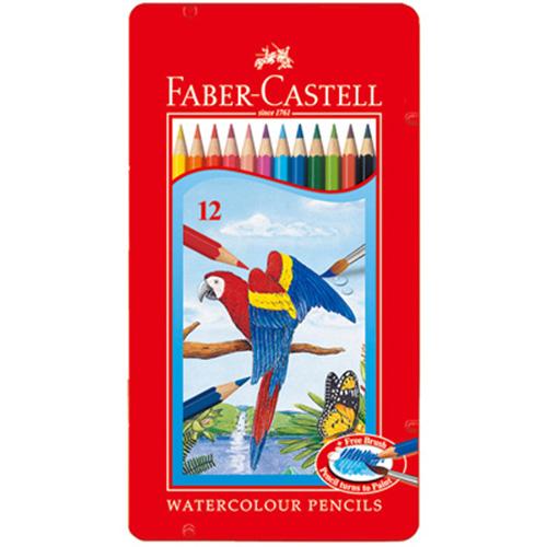 ~Faber ~ Castell 輝柏~12 色水彩色鉛筆 ^( 鐵盒 ^)