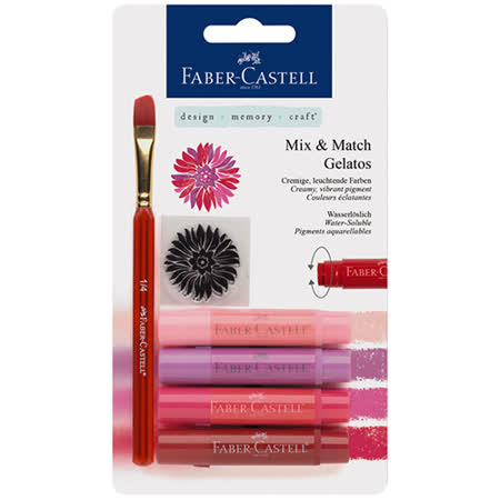 《Faber - Castell 輝柏》口紅水性蠟筆系列 - 紅色系 4 入