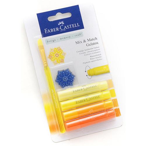 ~Faber ~ Castell 輝柏~口紅水性蠟筆系列 ~ 黃色系 4 入