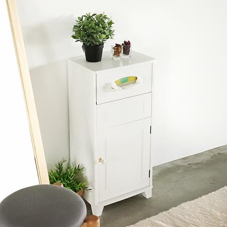 《Peachy life》純白日系附垃圾桶櫃/邊櫃/玄關櫃