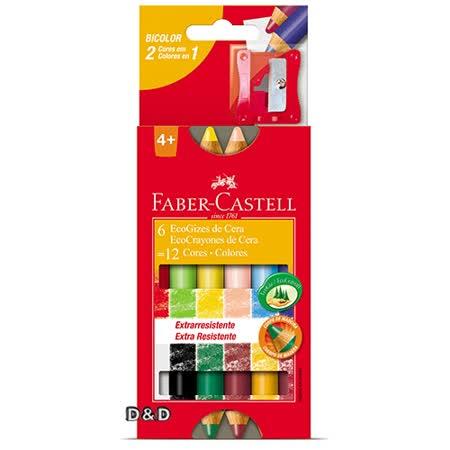 《Faber - Castell 輝柏》原木6入12色鉛筆