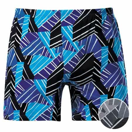 【DADADO】線條幾何M-3L印花平口褲(變化灰)