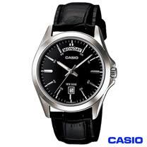 CASIO卡西歐 經典造型男仕皮革腕錶 MTP-1370L-1A