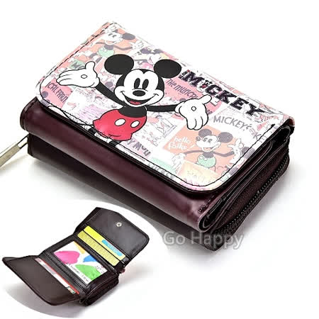 Disney【歡樂米奇】多功用皮夾