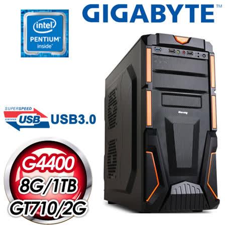 技嘉 H110 平台【劍風勇士】Intel Pentium G4400 8G 1TB N710 2G 超值獨顯高效能電腦