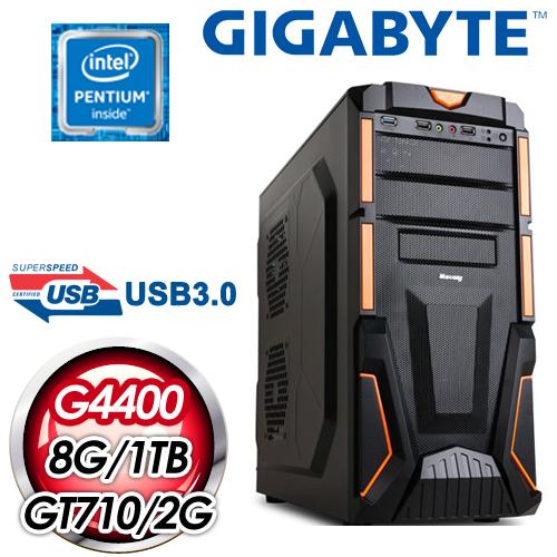 技嘉 H110 平台~劍風勇士~Intel Pentium G4400 8G 1TB N7