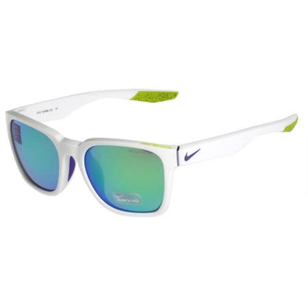 NIKE- 反光運動太陽眼鏡(白色)