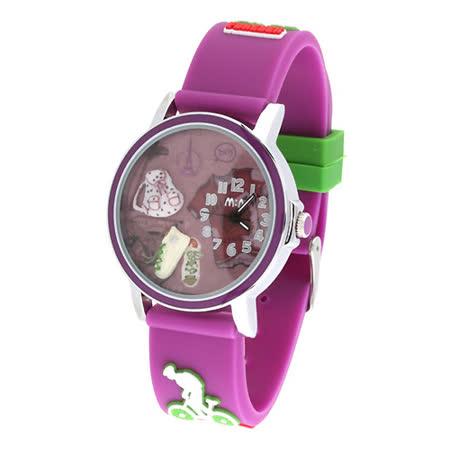 【韓國MINI 】手工軟陶創意手錶-快樂旅行(紫)