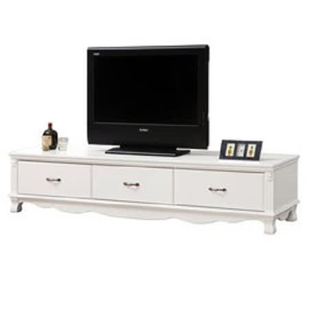 HAPPYHOME 凡尼斯6.6尺烤白電視櫃UZ6-215-5