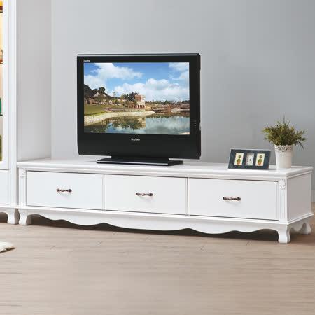 HAPPYHOME 凡尼斯6尺烤白電視櫃UZ6-215-8