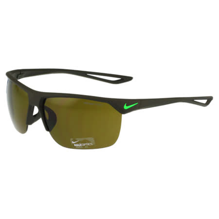 NIKE- 反光運動太陽眼鏡(橄欖綠)