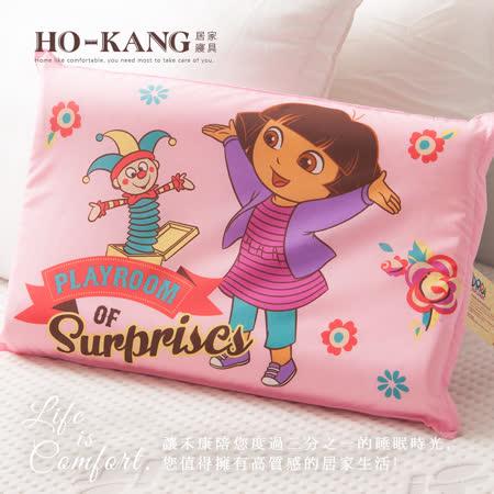 HO KANG 經典卡通 100%天然幼童乳膠枕-朵拉驚奇遊戲