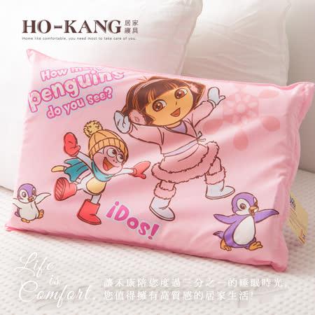 HO KANG 經典卡通 100%天然幼童乳膠枕-朵拉歡樂