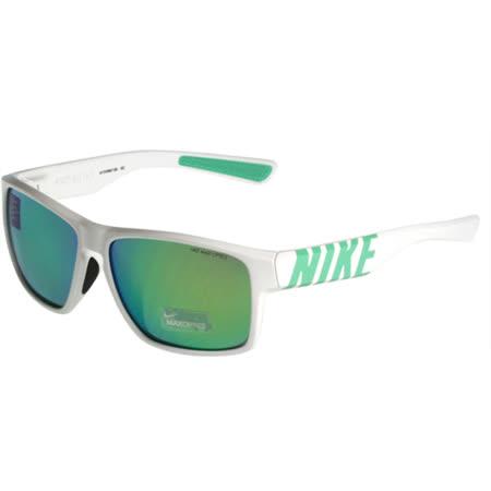 NIKE- MOJO系列 反光運動太陽眼鏡(白色)