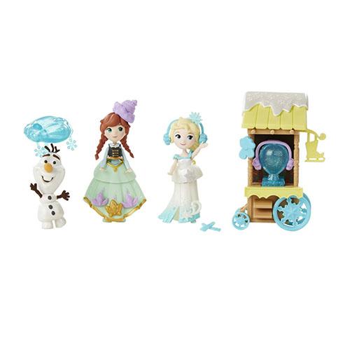 ~Disney 迪士尼~冰雪奇緣迷你公主及情境組 ~ 冰雪場景組