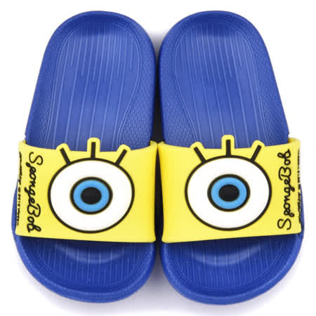 童鞋城堡-海綿寶寶 中小童 大icon設計輕量拖鞋SG2735-藍